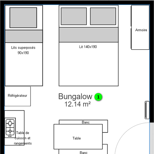 Plans des bungalows de location